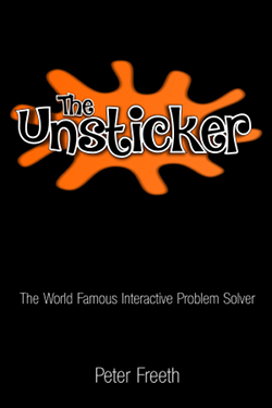 Get The Unsticker from all good book stores, and also Amazon